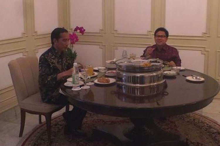 Presiden Joko Widodo menerima Ketua Umum Partai Kebangkitan Bangsa Muhaimin Iskandar di Istana Merdeka, Jakarta,  Selasa (29/11/2016).
