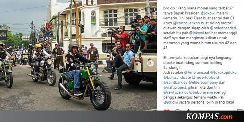 Kruzr Sneakers Riding Yang Dipakai Jokowi Momotoran Di Bandung