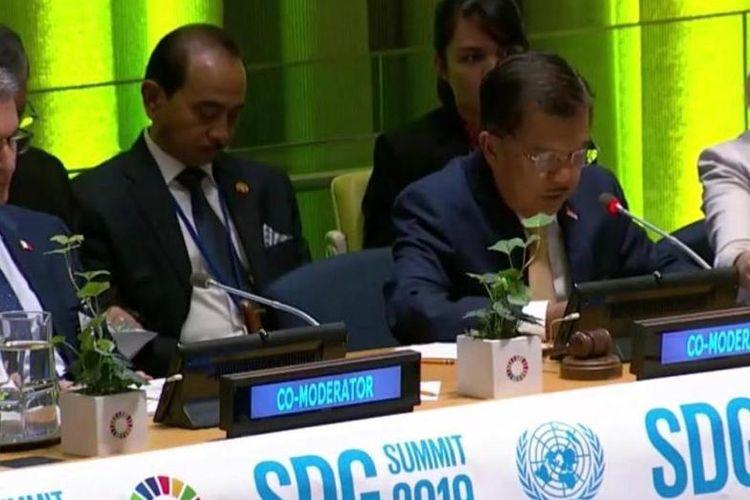 Pimpin SDG Summit di PBB, Wapres JK Ceritakan Prioritas Pembangunan Indonesia