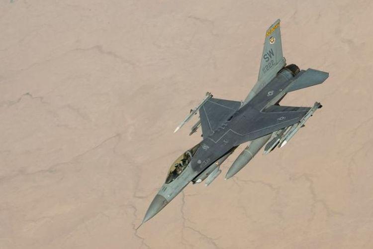 Pesawat jet tempur F-16 milik Angkatan Udara AS.