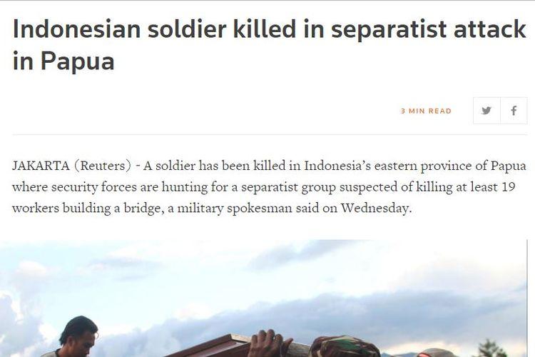 Pemberitaan Reuters tentang pembantaian Papua