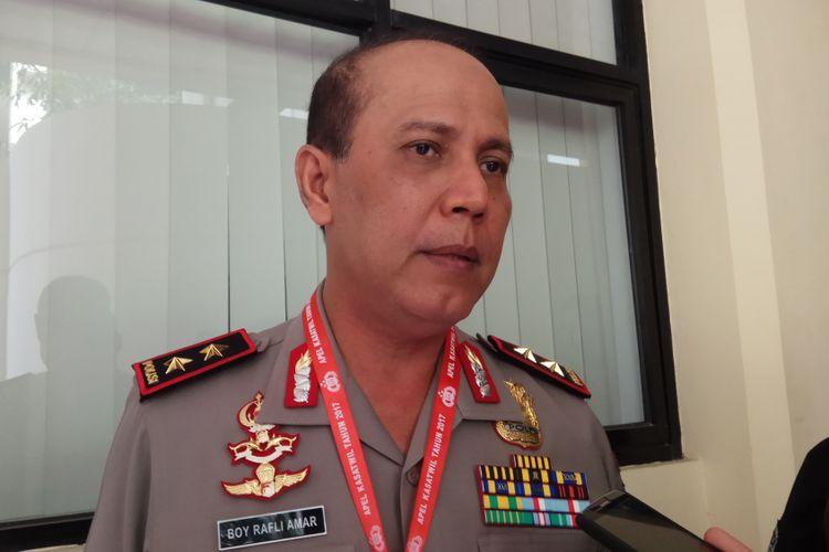 Kapolda Papua Irjen Boy Rafli Amar mengatakan bahwa Pilkada Papua 2018 rawan akan adanya gangguan dari kelompok kriminal bersenjata. Semarang, Selasa (10/10/2017).