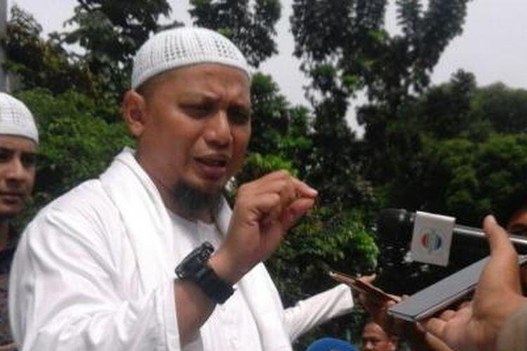 Ustaz Arifin Ilham di Mapolda Metro Jaya, Kamis (3/11/2016).