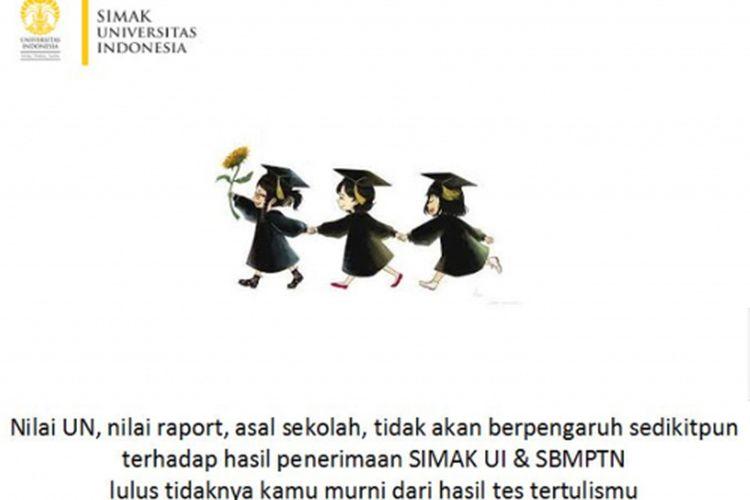 Hasil UN dan rapor sekolah asal tidak akan mempengaruhi penerimaan SBMPTN.