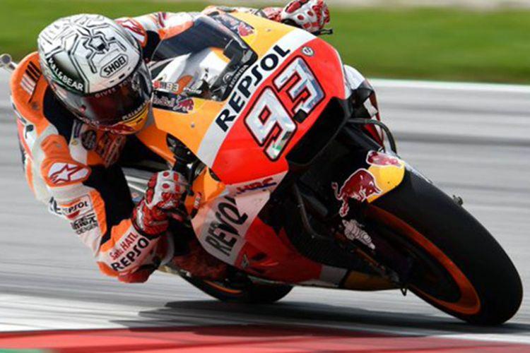 Pebalap Repsol Honda, Marc Marquez di MotoGP Misano, San Marino
