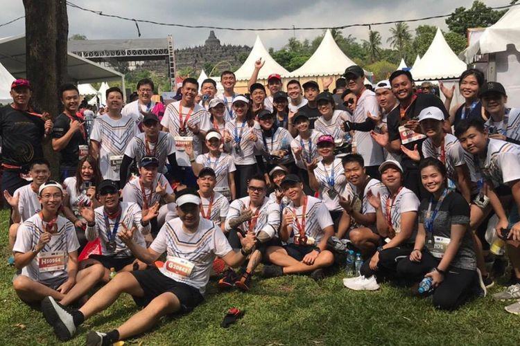 Komunitas Ubur-Ubur Lari saat mengikuti Borobudur Marathon 2018