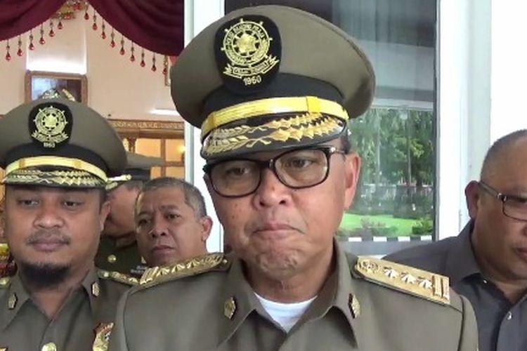 Gubernur Sulsel Nurdin Abdullah saat ditemui wartawan usai pertemuan dengan Bupati Toraja dan Kakanwil Kemenag Sulawesi Selatan, Selasa (19/3/2019).