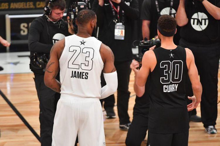 LeBron James dan Stephen Curry akan menjadi kapten dari dua tim yang bertanding di NBA All Star 2018 di Staples Center, Minggu (18/2/2018) atau Senin pagi WIB.