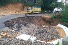 Rawan Kecelakaan, Ruas Jalan Sukabumi-Sagaranten Kembali Ambles