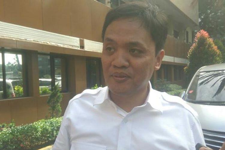 Pembina Advokat Cinta Tanah Air (ACTA) Habiburokhman di Mapolda Metro Jaya, Rabu (14/12/2016)