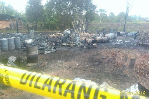 Tempat Penampungan Minyak Ilegal Meledak dan Terbakar