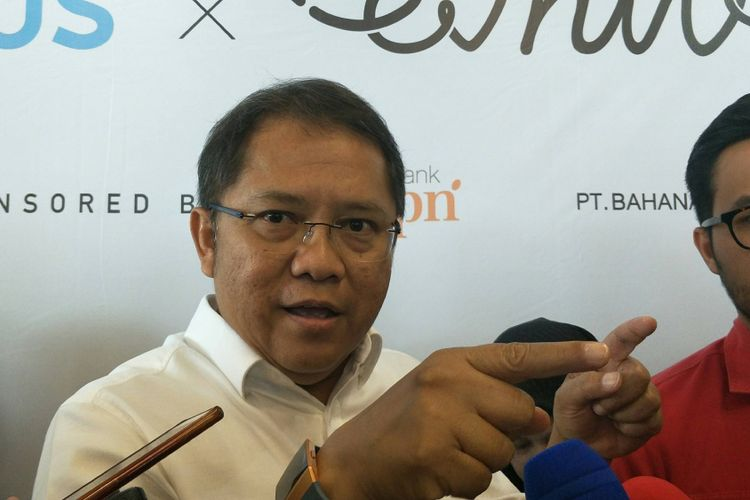 Menteri Komunikasi dan Informatika (Menkominfo) Rudiantara saat ditemui di Menara BTPN, Kuningan, Jakarta, Rabu (7/3/2018).