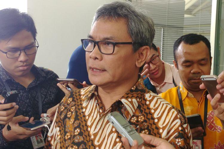 Staf Khusus Presiden bidang Komunikasi Johan Budi Saptopribowo di Istana Kepresidenan, Jakarta, Rabu (21/3/2018).