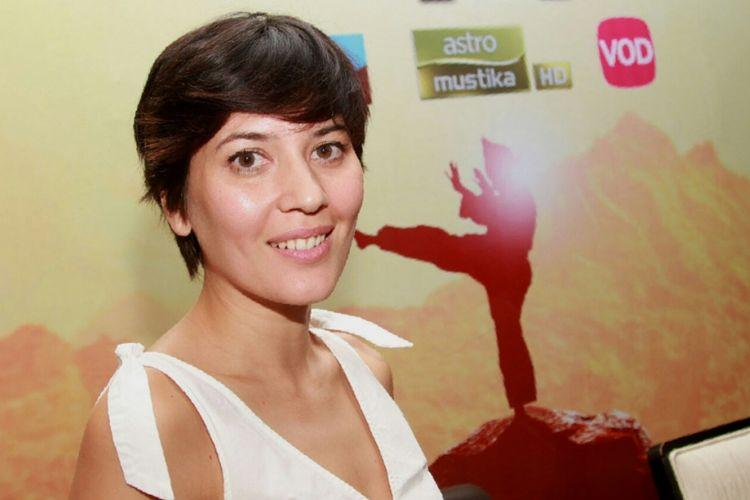 Hannah Al Rashid usai konferensi pers mini seri Do[s]a di Hotel Cosmo Amaroossa, Jakarta Selatan, Jumat (11/8/2017) malam.