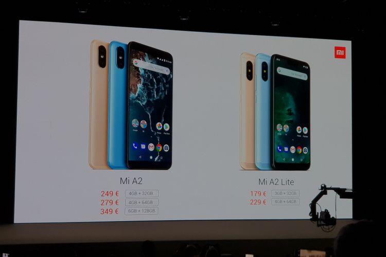 Xiaomi meluncurkan dua ponsel terbarunya yakni Mi A2 dan Mi A2 Lite. Ponsel ini diperkenalkan