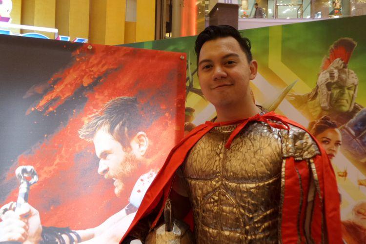Chandra Liow ketika menghadiri promosi film Thor: Ragnarok di Pasific Place, SCBD, Jakarta Selatan, Jumat (20/10/2017)