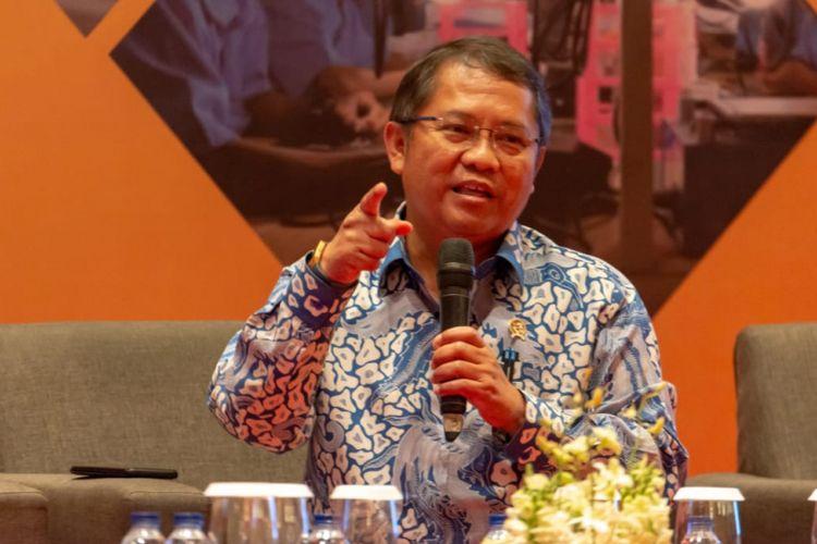 Menteri Komunikasi dan Informatika Rudiantara di Ekonomi Outlook 2019, Jakarta, Selasa (8/1/2019)
