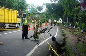 Jalan Nasional di Gunungkidul Ambles, Rumah dan Pengguna Jalan Terancam
