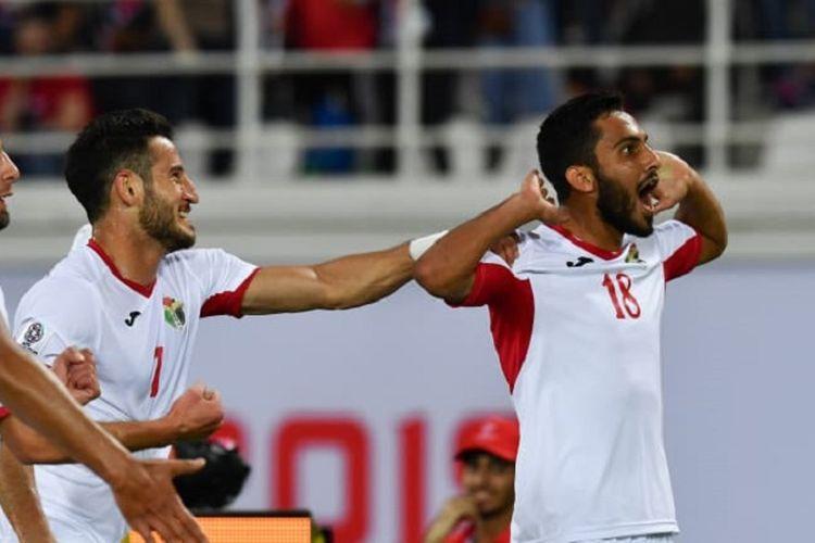 Yordania menjadi tim pertama yang memastikan lolos ke babak 16 besar Piala Asia 2019 seusai mengalahkan Suriah, 10 Januari 2019.