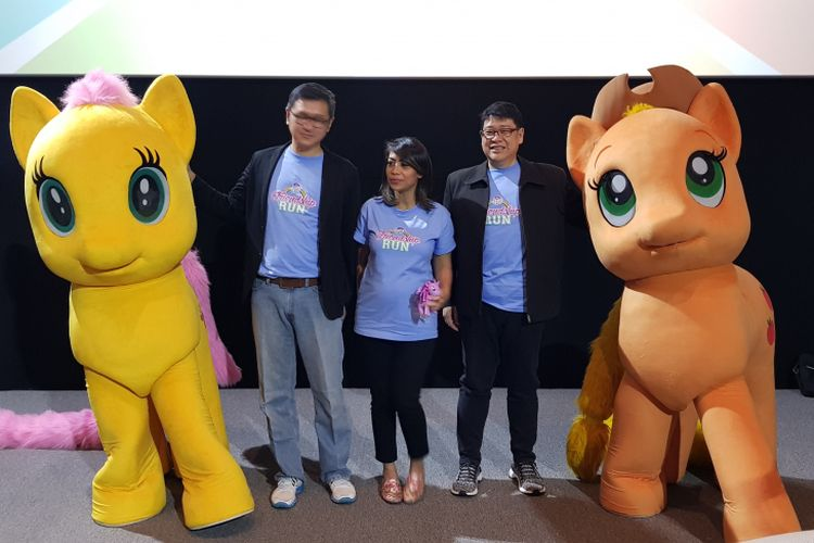Konferensi pers My Little Pony Friendship Run 2018, PIK Avenue, Jakarta Utata, Selasa (10/7/2018).