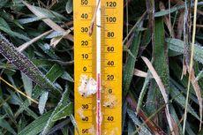 Suhu Minus 1 Derajat Celsius di Dieng, Embun Membeku Jadi Es