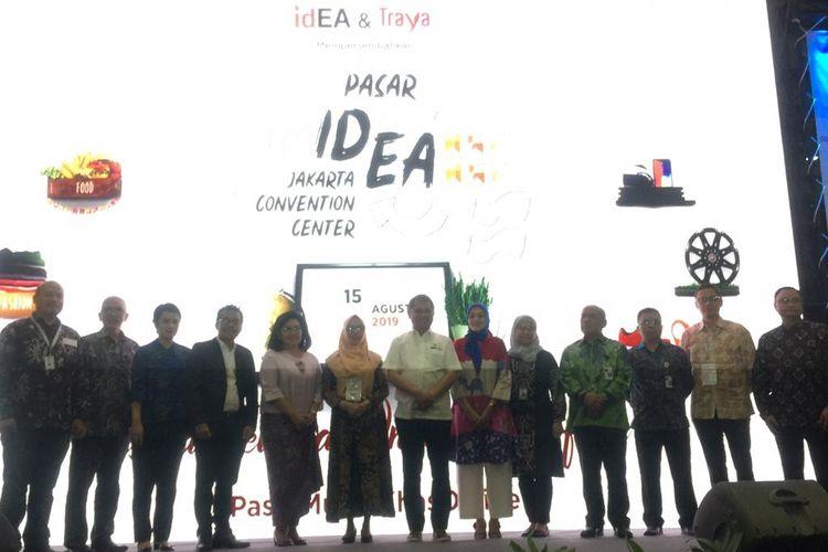 Pembukaan Pasar IdEA di JCC Senayan, Jakarta, Kamis (15/8/2019).