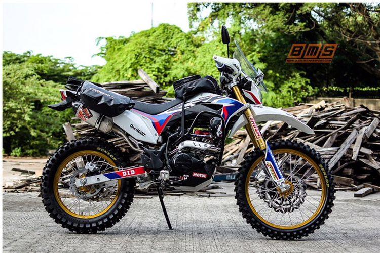 Modifikasi Honda CRF150L Bergaya Adventure