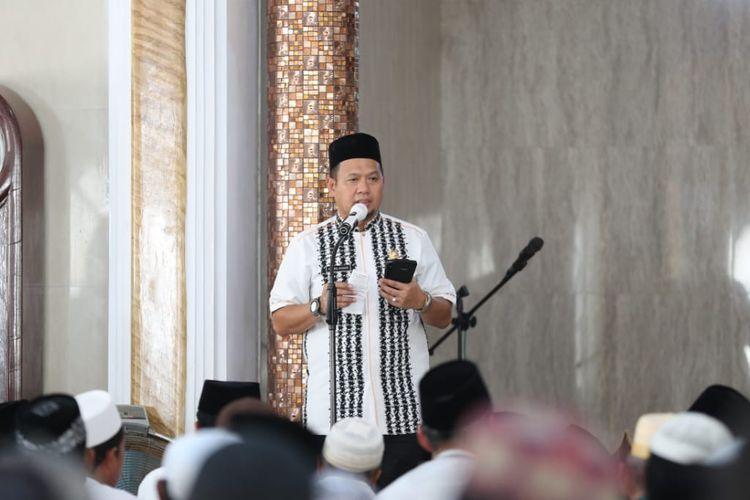 Pejabat Wali Kota Makassar M Iqbal S Suhaeb saat Safari Ramadhan, Jumat (17/5/2019).