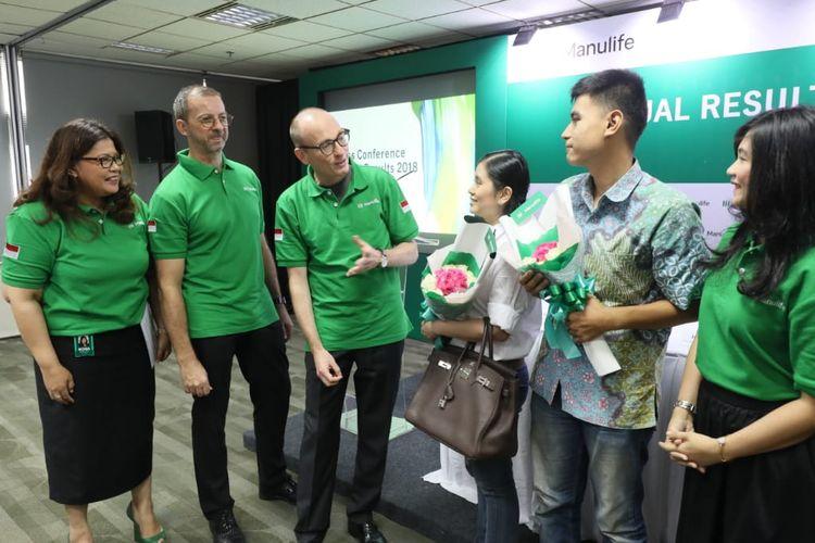 Pemberian apresiasi kepada nasabah Manulife Indonesia di Jakarta, Senin (20/5/2019).