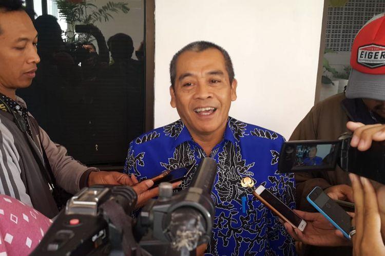 Wakil Wali Kota Madiun Armaya menyampaikan alasannya mengundurkan diri dari jabatannya lantaran maju sebagai caleg DPRD Kota Madiun pada pileg 2019, Jumat (3/8/2018).