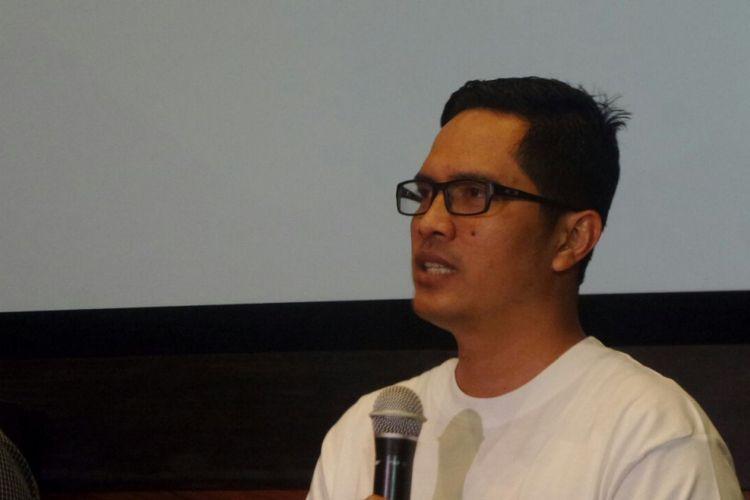 Juru Bicara Komisi Pemberantasan Korupsi (KPK) Febri Diansyah dalam sebuah acara diskusi di Kemang, Jakarta Selatan, Jumat (10/11/2017).