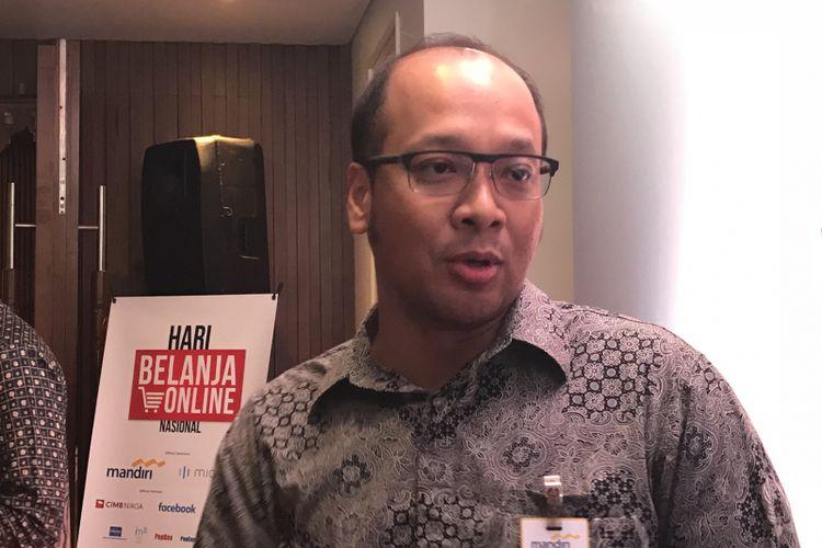 Vice President Credit Cards Group Bank Mandiri M Haris Budiman di Jakarta Pusat, Rabu (5/12/2018)