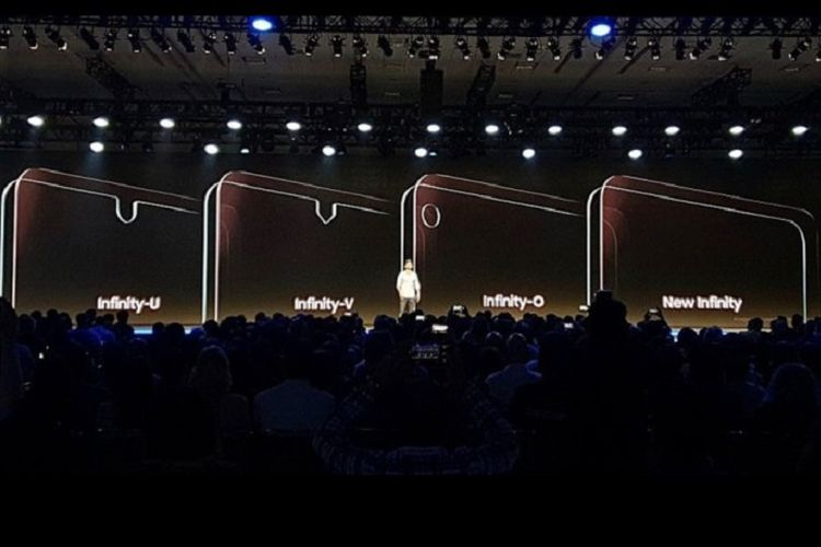 Tiga desain layar poni Samsung yang diperkenalkan di Samsung Developers Conference di San Fransisco