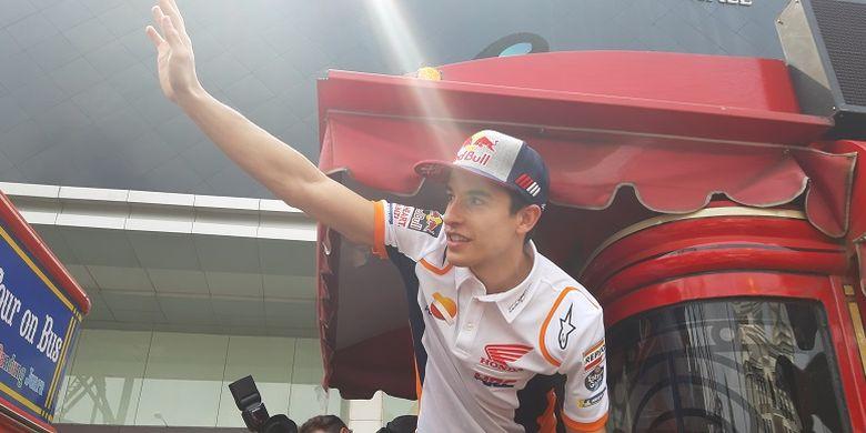 Marc Marquez menyapa penggemar di Bandung saat event Honda Sport Motorshow
