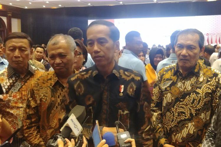 Presiden Jokowi dalam peringatan hari antikorupsi sedunia yang digelar Komisi Pemberantasan Korupsi, di Jakarta, Selasa (4/11/2018).