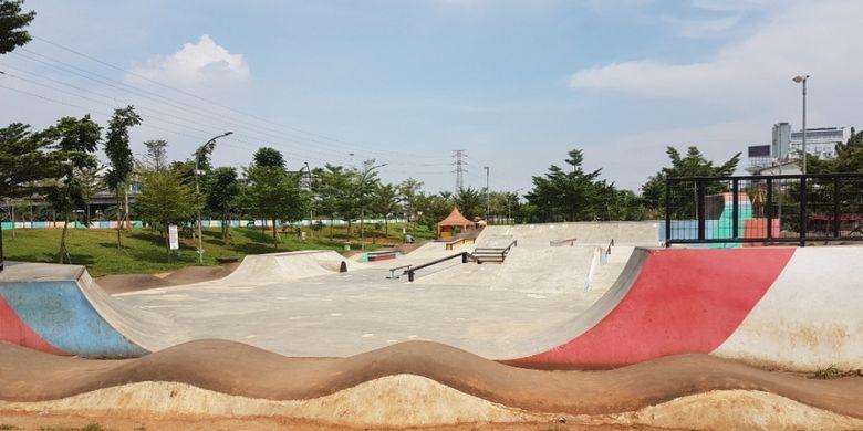 Area skatepark yang sedang sepi, tetapi sudah bersih dan terawat, Rabu (27/2/2019)