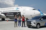 Mitsubishi Xpander Kini Menempel di Pesawat Garuda
