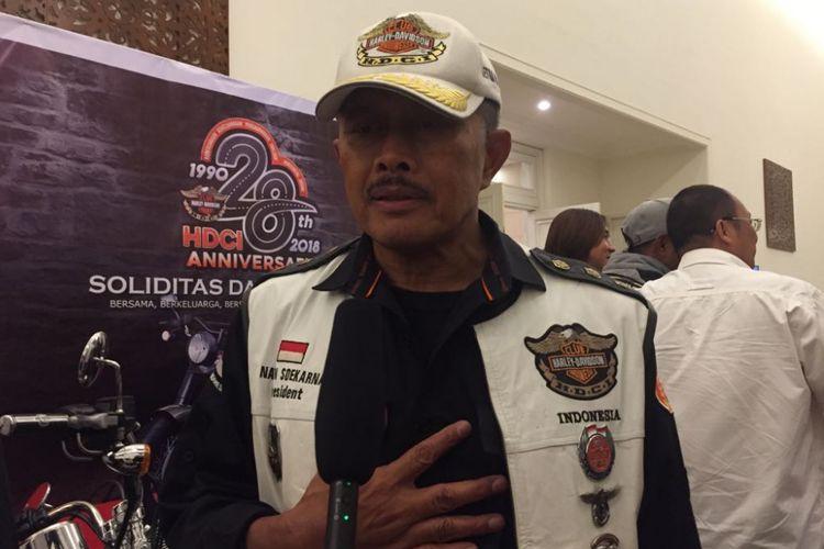 Ketua Umum Harley-Davidson Club Indonesia (HDCI) Nanan Soekarna.