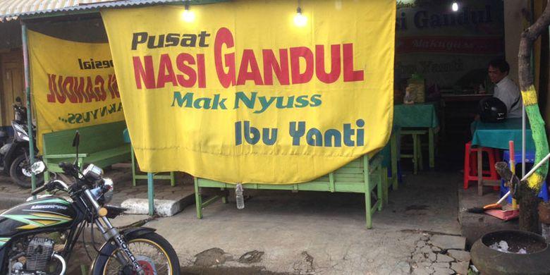Nasi Gandul Mbak Yanti di Pati, Jawa Tengah, Rabu (7/2/2018).