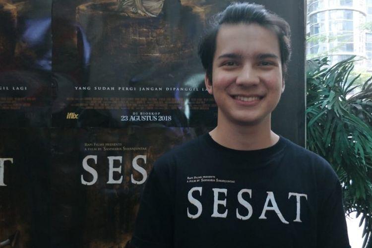 Endy Arfian saat ditemuu dalam jumpa pers dan screening film Sesat di XXI Epicentrum, Kuningan, Jakarta Selatan, Kamis (16/8/2018).