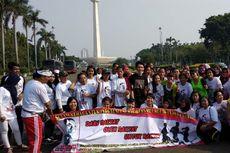 Bersamaan dengan Deklarasi #2019GantiPresiden, Relawan Jokowi Gelar Senam di Monas