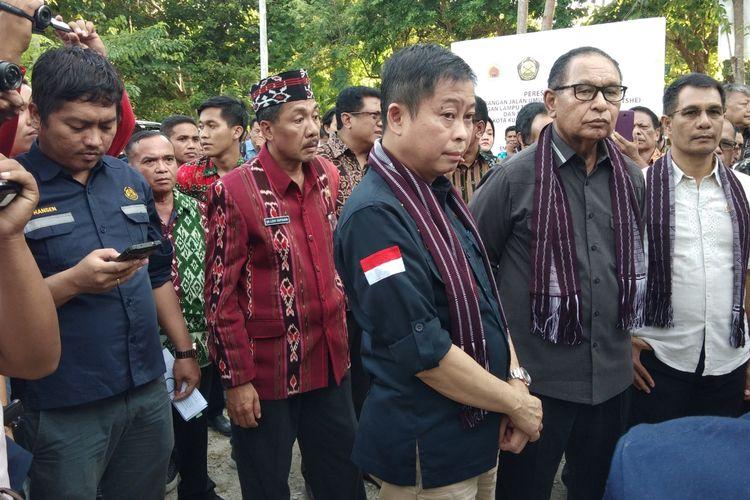 Menteri ESDM Ignasius Jonan, saat berkunjung ke Kota Kupang, Nusa  Tenggara Timur (NTT), Sabtu (23/3/2019) malam