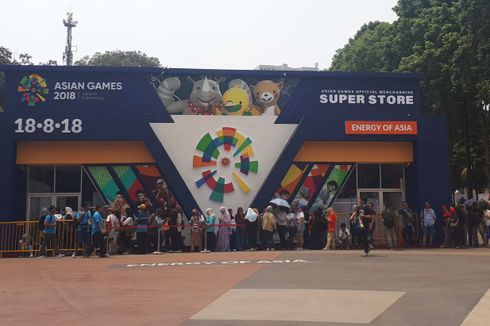 Asian Games Official Merchandise Super Store Diserbu Pengunjung