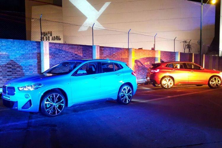 Dua unit The New BMW X2 di Village Underground, Lisbon, Portugal, Jumat (26/01/2018).