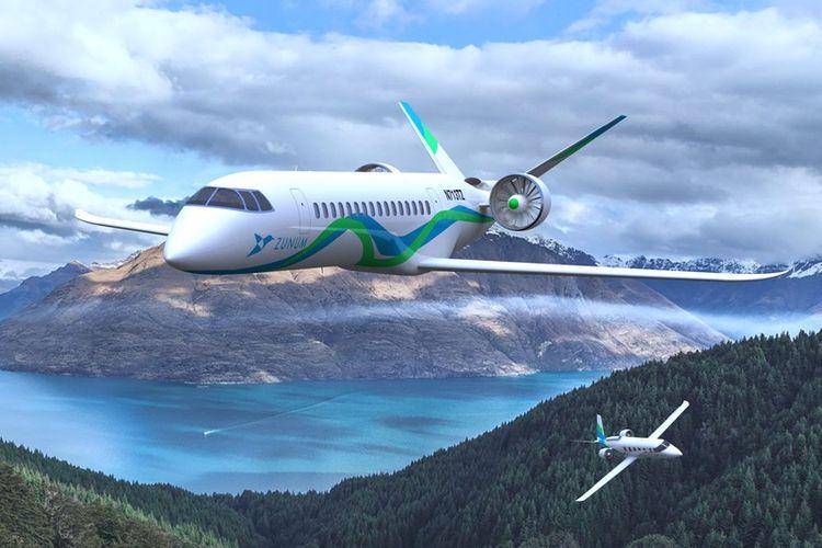 Pesawat bertenaga hybrid, gabungan listrik dan generator konvensional rancangan Zunum.
