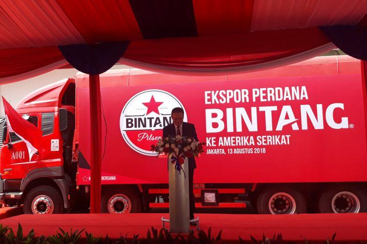 Peresmian Ekspor Perdana Bir Bintang ke Ameria Serikat, Tangerang (13/8/2018)