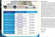 Belajar Jarak Minimal yang Aman Antar Kendaraan