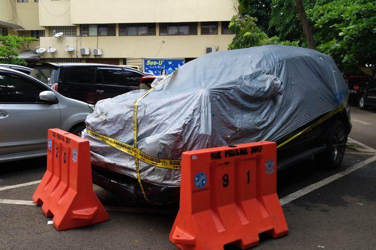 Mobil Fortuner yang ditumpangi Ketua DPR RI Setya Novanto.