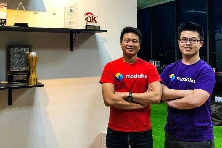 CEO Modalku Reynold Wijaya (kiri) dan COO Modalku Iwan Kurniawan (kanan).