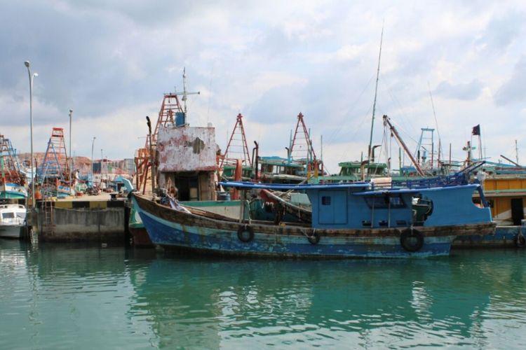 Ilustrasi kapal ikan berbendera Vietnam yang diduga melakukan penangkapan ikan ilegal di perairan Indonesia.
